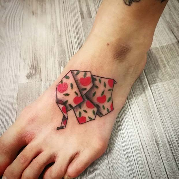 Креативно Origami Elephant for Elephant Tattoo Ideas