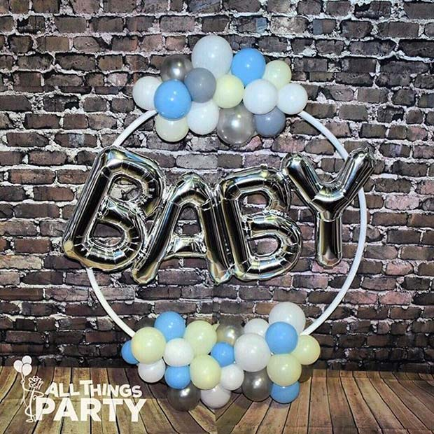 Dijete Balloon Decoration for Boy's Baby Shower