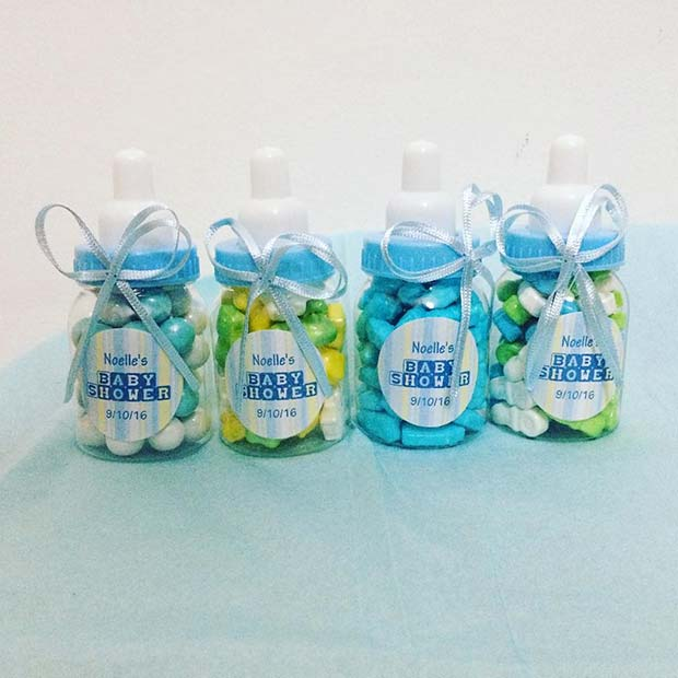 Dijete Bottle Candy for Boy's Baby Shower