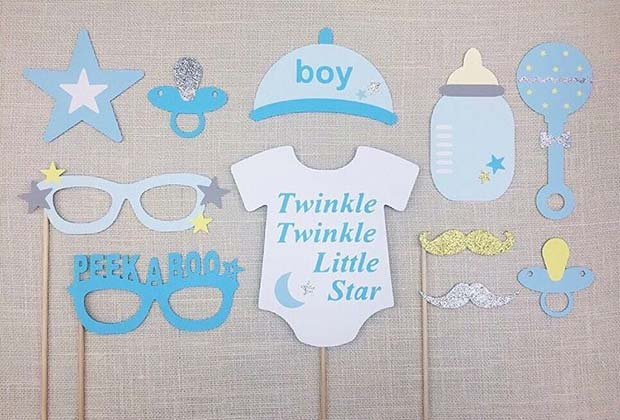 Sevimli Photo Booth Props for Boy's Baby Shower