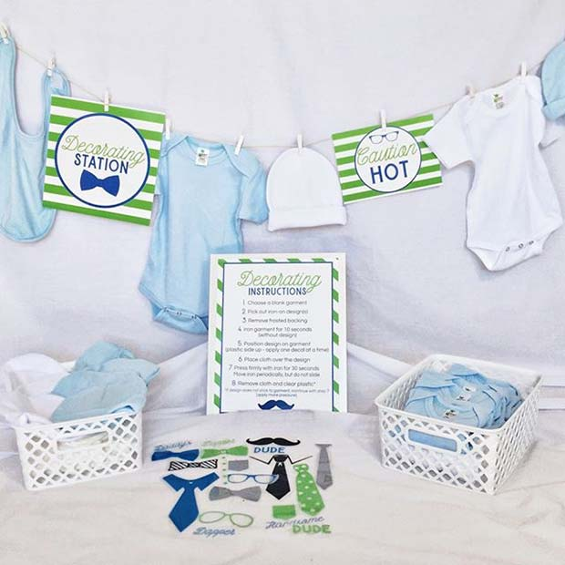 Dekorasyon Station for Baby Clothes for Boy's Baby Shower