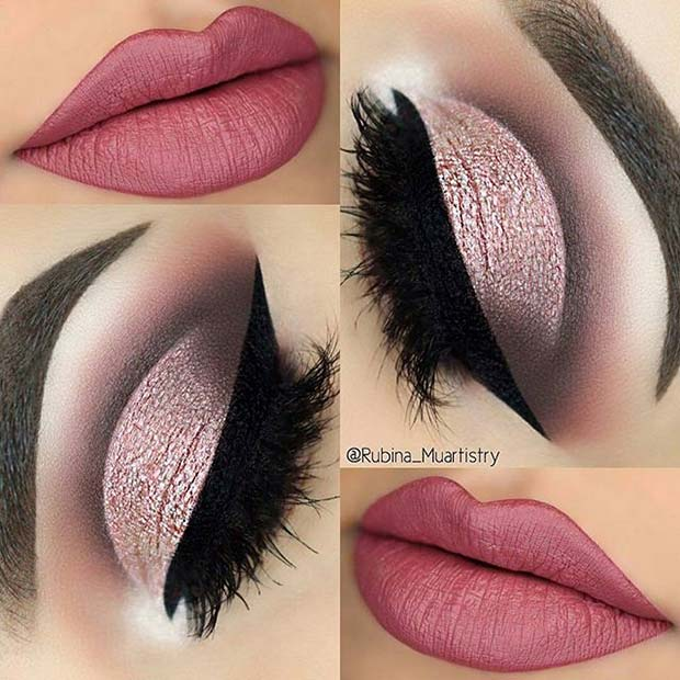 Гламурозан Eye Makeup with Pink Lips for Spring Makeup Ideas
