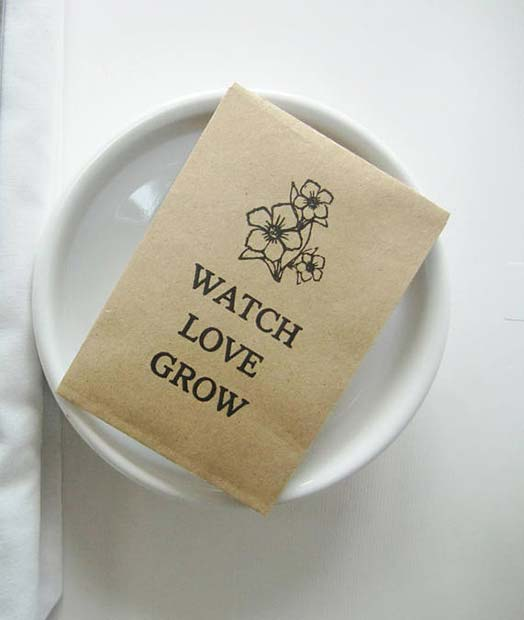 घड़ी Love Grow Seeds for Bridal Shower