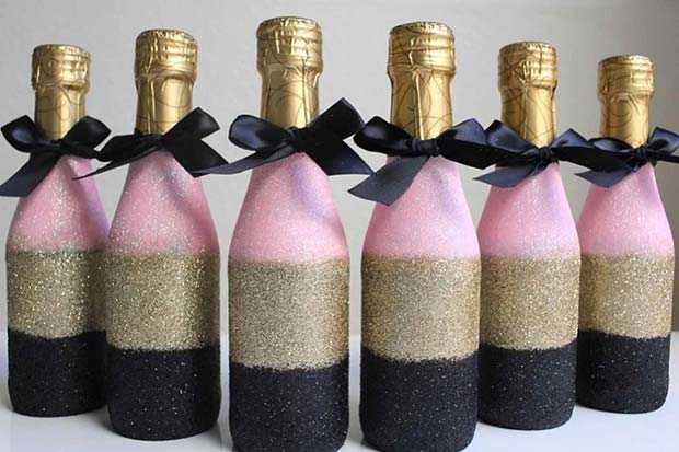 ग्लैमर Mini Champagne Bridal Shower Favor