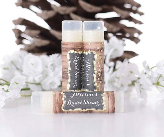 निजीकृत Lip Balms Bridal Shower Favor