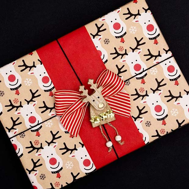 Rudolph Gift Wrap