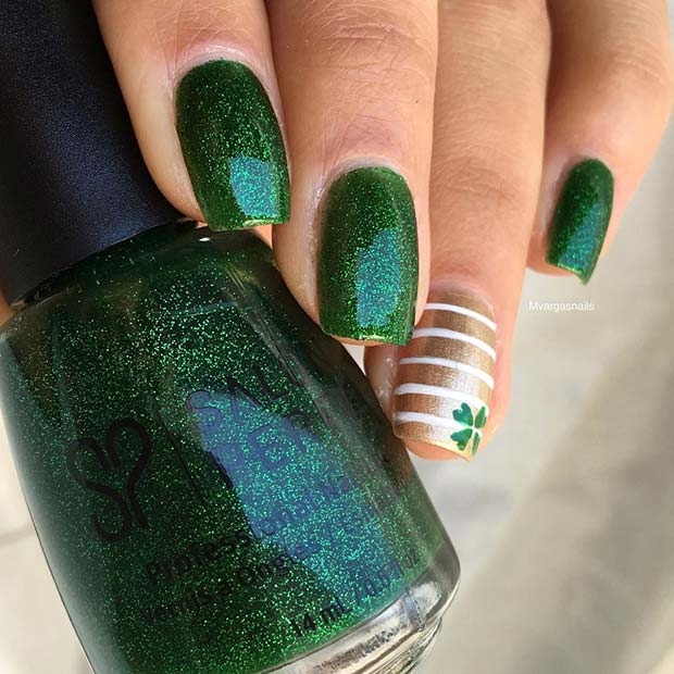blistati Irish Green Nails