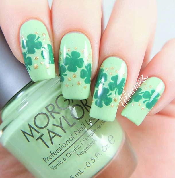 zelena Lucky Clover Nails