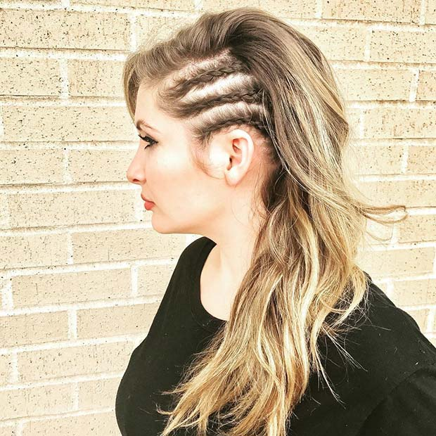 Trendig Side Braids Hairstyle