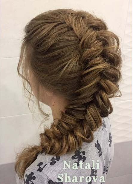 Lösa Fishtail Braid with Volume