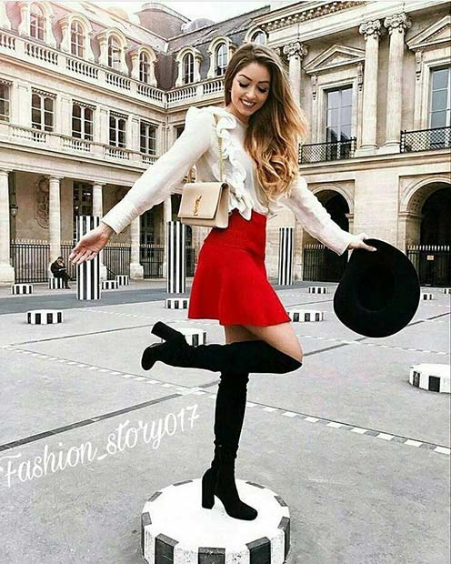 Djärv Skirt and Boots for Cute Fall 2017 Outfit Ideas