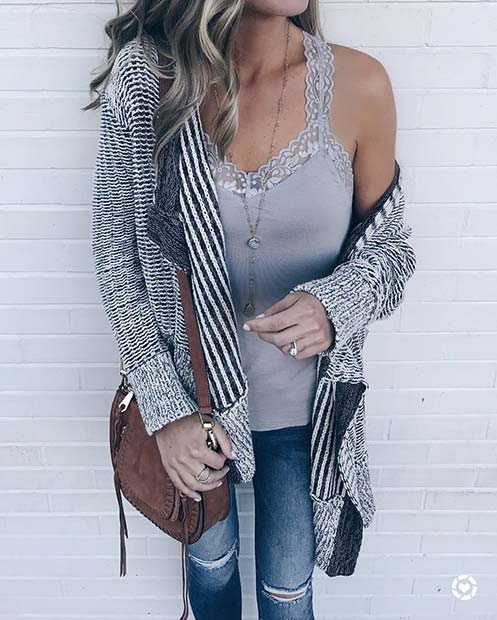 Söt Cardigan for Cute Fall 2017 Outfit Ideas