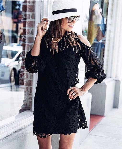 Söt Lace Dress for Cute Fall 2017 Outfit Ideas