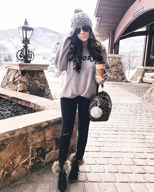 Aranyos and Cozy Winter Outfit Idea for Cute Outfits to Copy This Winter