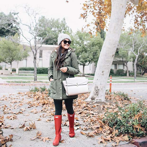 Vibráló Wellies for Cute Outfits to Copy This Winter