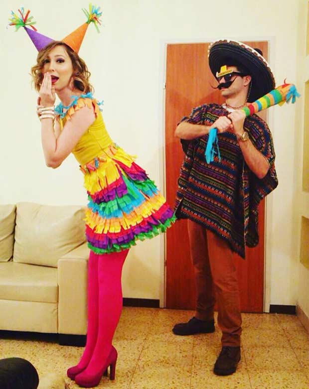 मैक्सिकन and Pinata Couple Costume for Halloween