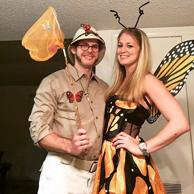 तितली Catcher DIY Couple Halloween Costume