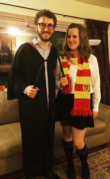सताना Potter DIY Couple Halloween Costume