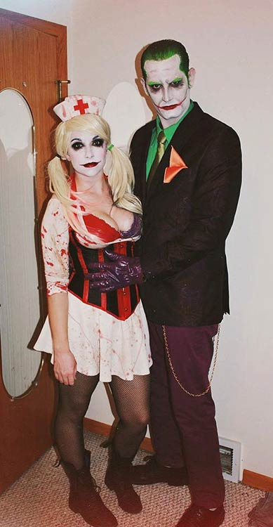 जोकर and Harley Quinn Couple Halloween Costume