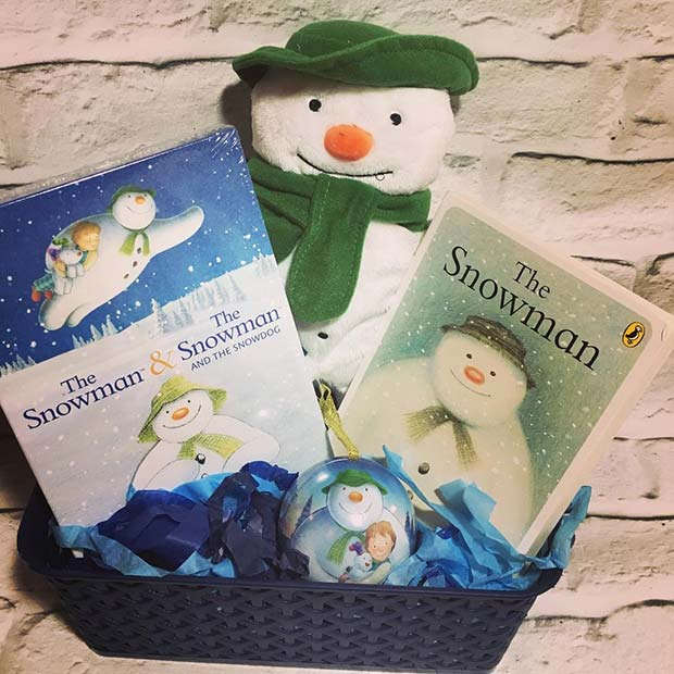 DIY The Snowman Gift Basket