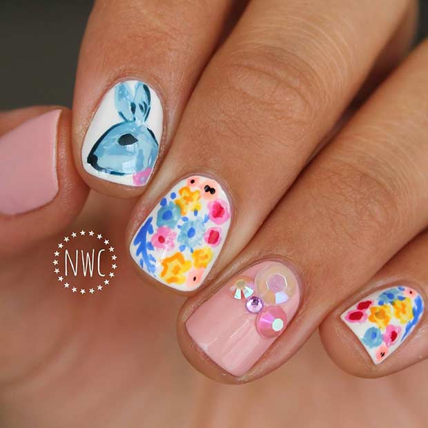 Пролеће and Easter Nail Art Idea