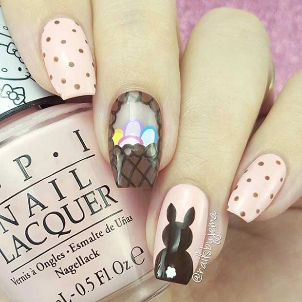 Елегантно Easter Nail Art Design for Long Nails