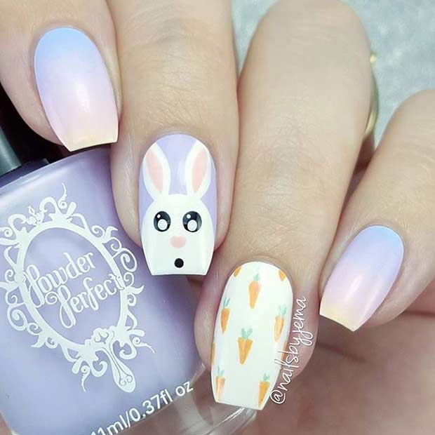 Пастел Ombre Easter Nail Art Design
