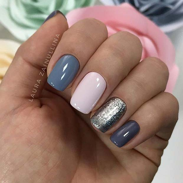 मल्टी Color Manicure for Elegant Nail Designs for Short Nails