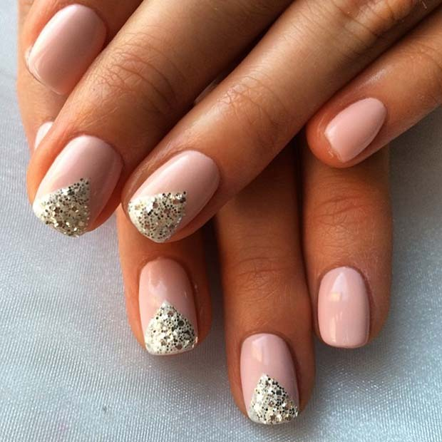 सुंदर Glitter Design for Elegant Nail Designs for Short Nails