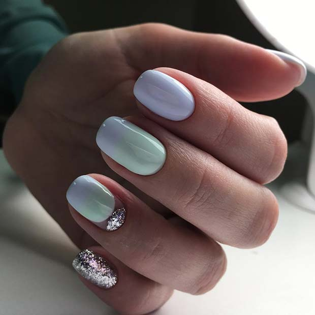 कायरता Glitter Nails for Elegant Nail Designs for Short Nails