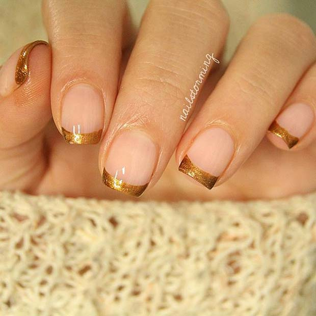 Aur French Manicure for Elegant Nail Designs for Short Nails