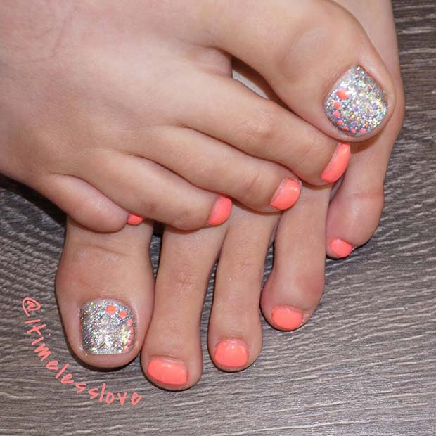Elegáns Spring and Summer Toe Nail Design