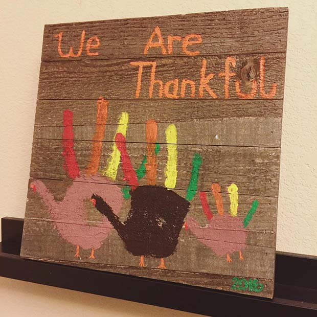 Hand Print Art for Thanksgiving Crafts