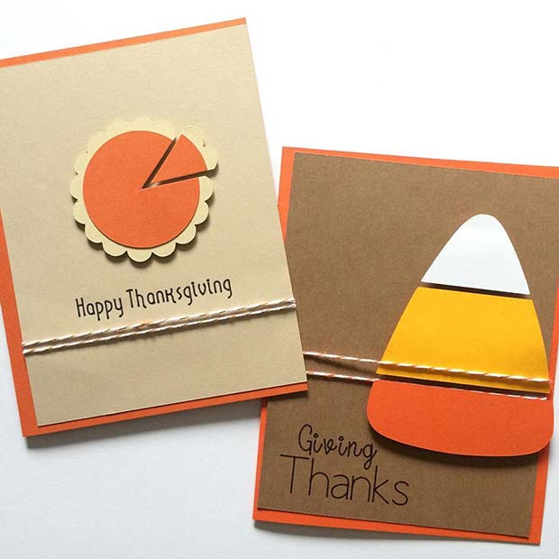Tacksägelse Cards for Thanksgiving Crafts