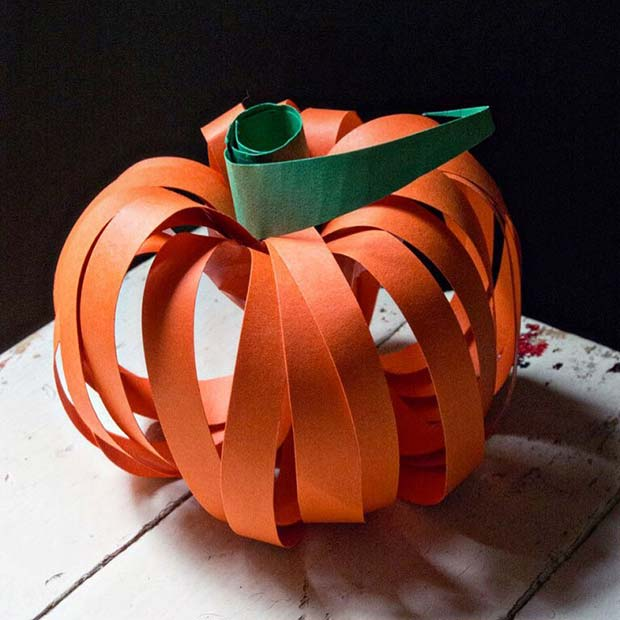Papper Pumpkin Craft for Thanksgiving Crafts