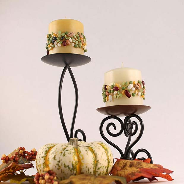 Falla Inspired Candles for Thanksgiving Crafts