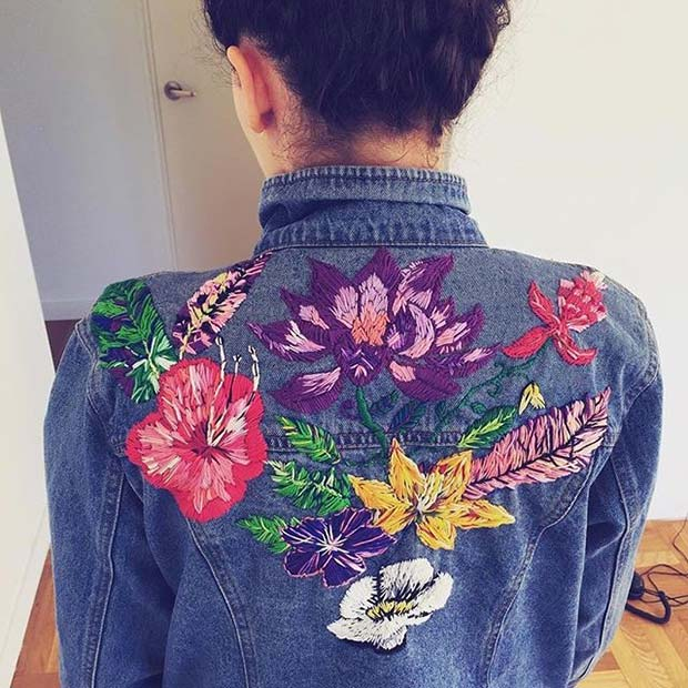 Везени Floral Denim Jacket