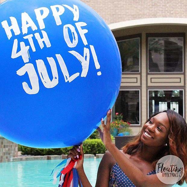 4 of July Balloons for 4th of July Party Ideas