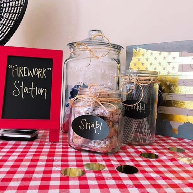 विकल्प Firework Station for 4th of July Party Ideas