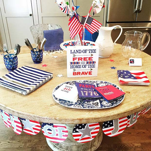 4 of July Party Table for 4th of July Party Ideas