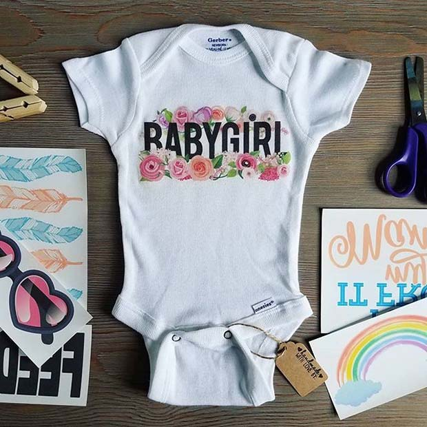 onesie Decorating Kit for Baby Shower Game Idea
