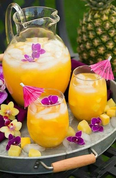 Mango Pineapple Lemonade for Girly and Delicious Summer Cocktails