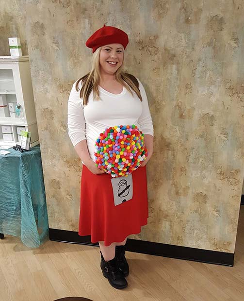 मजेदार Gumball Costume for Halloween Costumes for Pregnant Women
