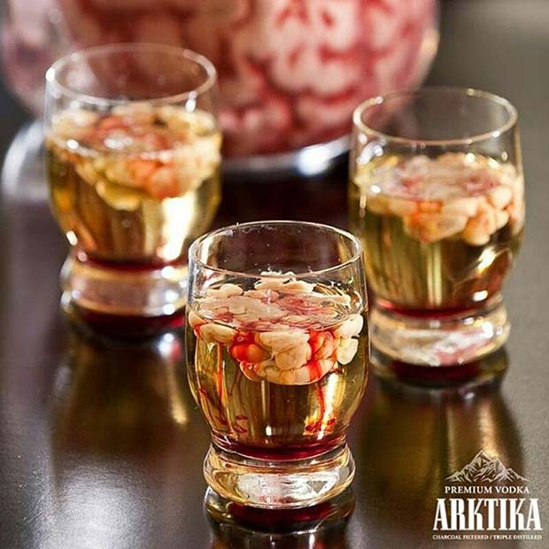 ซอมบี้ Brain Shots for Halloween Party Drinks