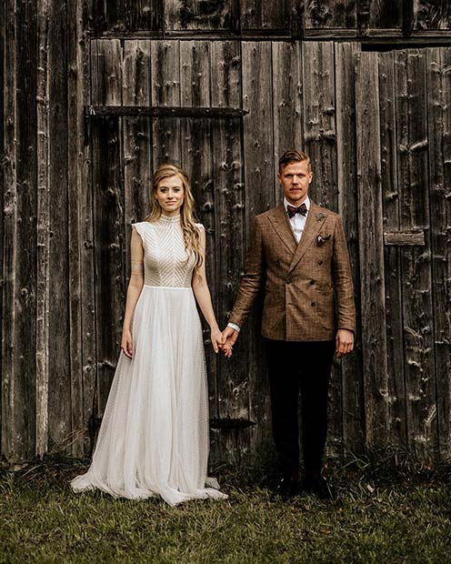 Brud and Groom Styling Ideas for Rustic Wedding Ideas