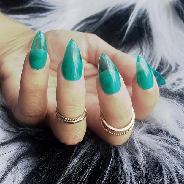pomodan Turquoise Jelly Nails
