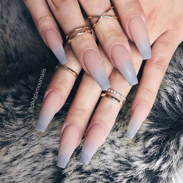pomodan Ombre Coffin Nails