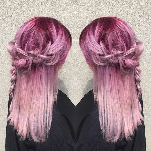 Магента to Pastel Pink Hair