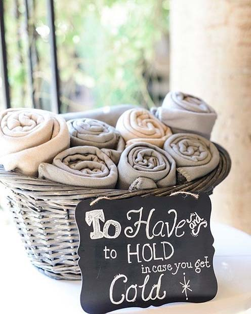 Filt or Shawl Basket for Spring Wedding