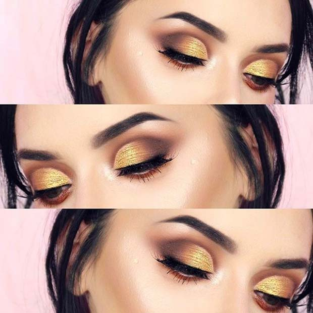मुलायम Yellow for Fall Makeup Looks